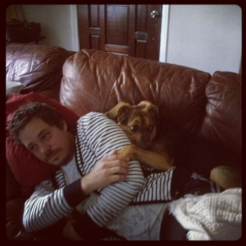 Post a pic of your actor with a pet.