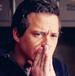 Post a pic of your actor touching his face.