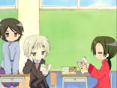 Post a picture of Hetalia crossed with Lucky Star.