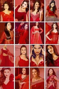 who is looking hot in red ?