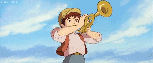 Post a character playing a muziki instrument