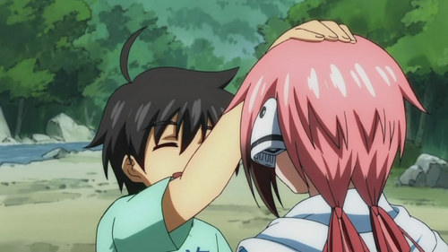 post an عملی حکمت charcter petting someone on the head