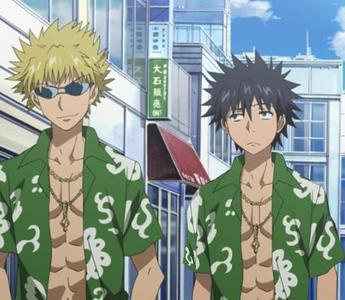 post an anime character wearing the same clothes as another anime character