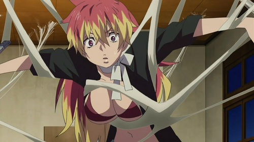 Post a picture of anime character with hair two different colors.