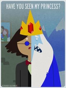 Do Ice King really ロスト his sanity after he took the crown?