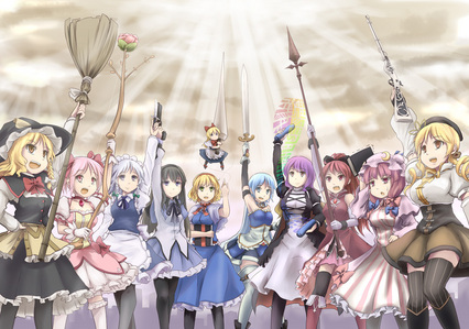 What are the best comedy, shoujo, fighting, or magical girl animes?
