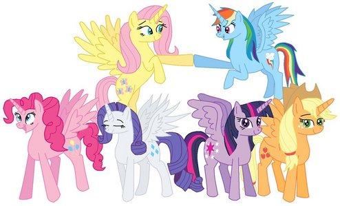 What should happen in the Season 4 Finale? pelangi, rainbow Power atau Mane Six Alicorns?