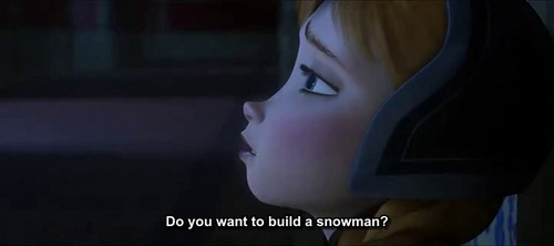 How come when at the third part of do you want to build a snowman, Anna asks Elsa to build a snowman with her when there is NO snow?