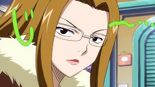 post an 日本动漫 girl who wears glasses
