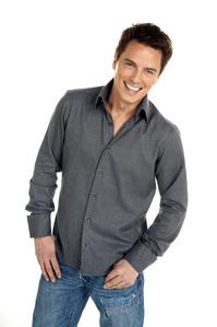 Post an actor wearing a shirt.