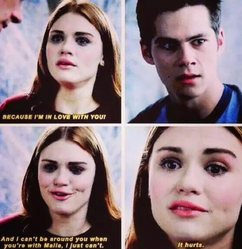 "In what episode in season four does Lydia ""express"" her love for Styles?"