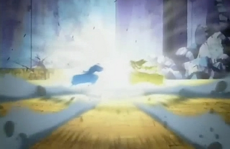 post a powerful clash between two animê characters
