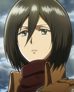 post an female anime character with black hair and black eyes