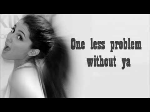 Post a pic of ariana with background of problem lyrics.