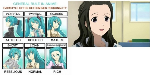 General Rule In Anime Anime Answers Fanpop - Anime hairstyle and personality