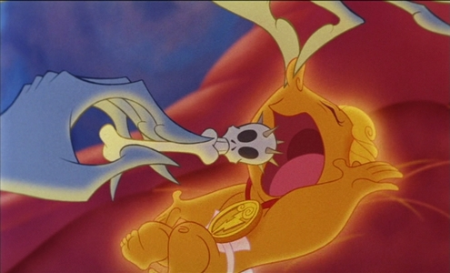 What would happen if the skull pacifier was in Baby Hercules' mouth?