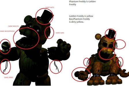 Golden Freddy is Phantom Freddy in FNAF 3?!The theory!