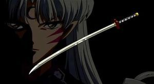 In InuYasha, does Sesshoumaru o inuyasha end with the tenseiga?