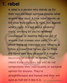 Are toi a rebel?