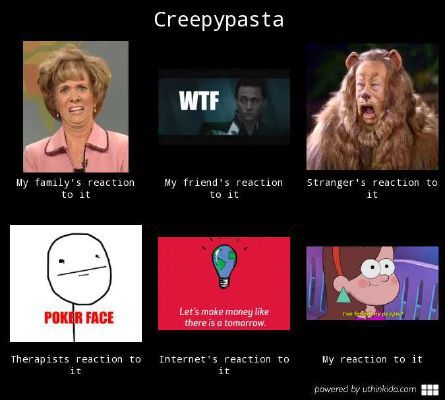 What do あなた think about creepypasta!
