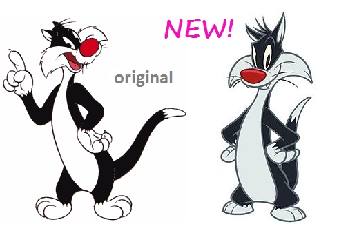 old Sylvester vs new Sylvester! Which drawing style do আপনি like for him?