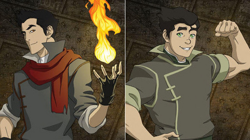 How can Bolin be an Earthbender and Mako a firebender if they're brothers?