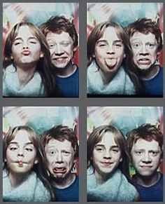 Post a collage of Hermione & Ronald