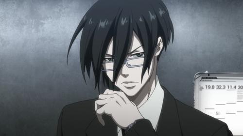 Post an عملی حکمت character who wears glasses.