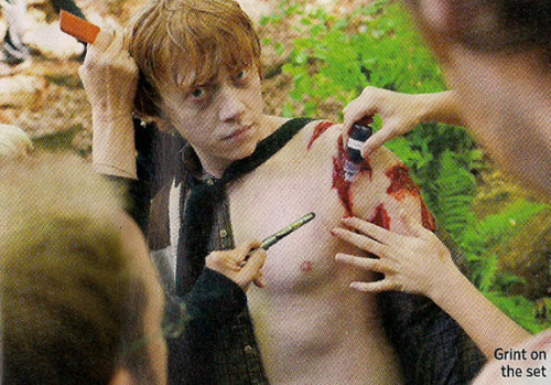 Which Harry Potter film is this behind-the-scenes 照片 from?