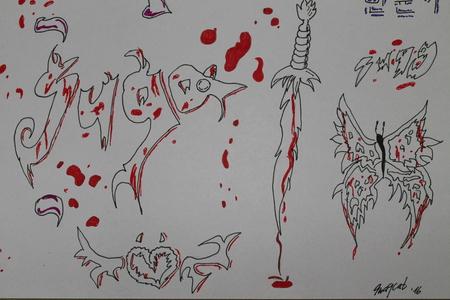 tunjuk me a drawing pic anda have made!!!