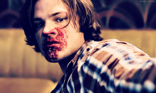 why did yellow eyes bleed into Sam's mouth?