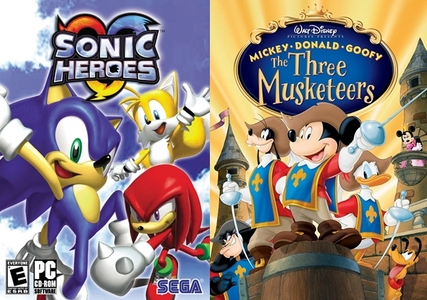 """Have Ты ever noticed that the game """"Sonic Heroes"""" is actually similar to the movie """"The Three Musketeers"""" (except when Ты choose one of the 'three troop' teams to play that game)?"""