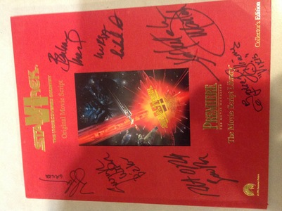 Star Trek V1 The Undiscovered Country Original Movie Script signed by 7 actors