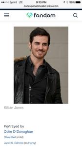 When did Jared play as Killian???