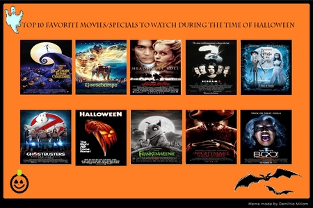 Which 10 Movies do you like watching during the Halloween Season?