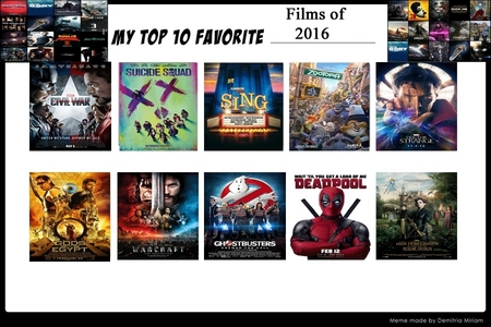 What's your Top 10 Favorite Movies of 2016?