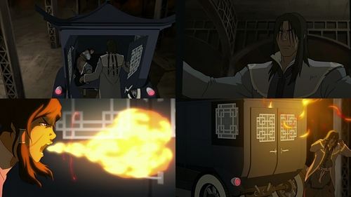 "Why didn't Korra manage to break free from the back of the truck that Tarrlok had tied her up on the way for his hideout at the mountains near Republic City after their duel at the City Hall in ""When Extremes Meet"" (Book one episode 8)?"