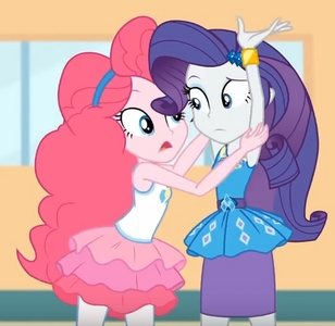 In this picture, does it look like Pinkie Pie is tickling Rarity on her underarms?