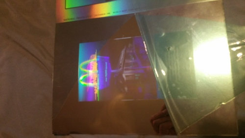 "Anybody know what this is its the 1988 December hologram but it's laser printed/etched in 1/16"" copper sheet the back is raw copper"