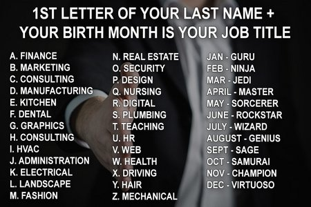 What's Your Job Title?