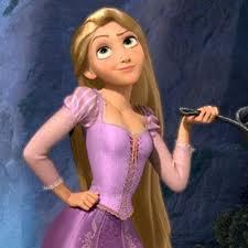 Rapunzel and her awesome fighting skills.