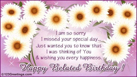 Happy belated Birthday Sweetie <3