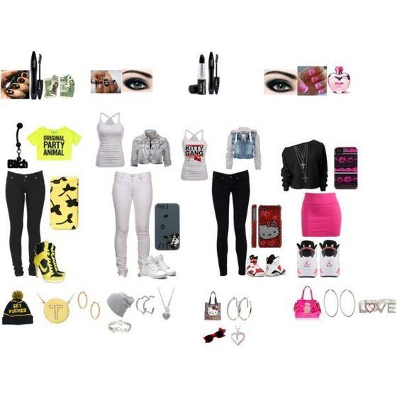 Girls Outfits(1st Tootie,2nd Goo Goo 3rd Aaliyah nd 4th Gigi)