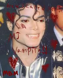 This is what michael looked like as a vampire.