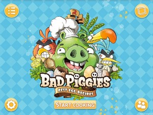 Bad Piggies Cookbook App Main Screen