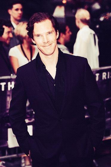 Benedict Cumberbatch attending the European Premiere of 'The Dark Knight Rises'