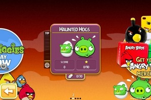 Angry Birds Season Haunted Hogs Main Screen