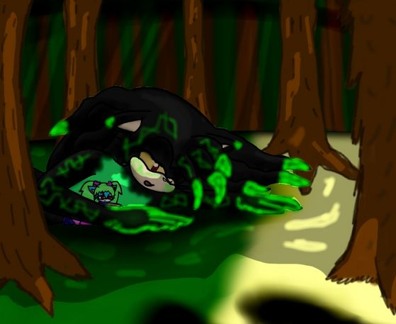 ~MADE oleh GUARDIANKEY'S~A RP WWAAYYY back in like...July?I donno XD This one was how we started RPing together! The little one is Mintz(GuardianKey's FC) and the other one is Dom in toxic form. :3
