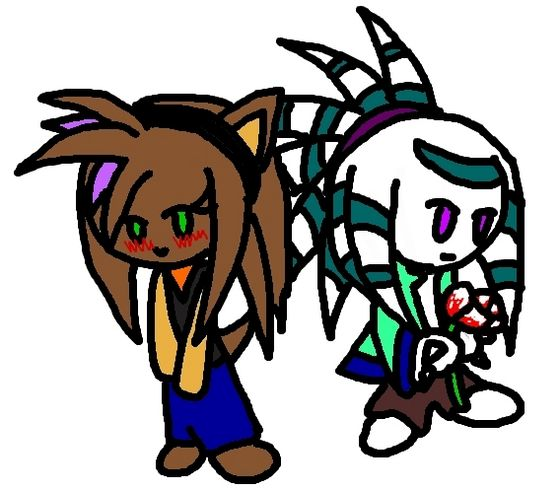 ~MADE oleh GUARDIANKEY'S~SO......ADORABLE!! :3 Girl is Lilia and the boy is Blizzard(GuardianKey's FC)