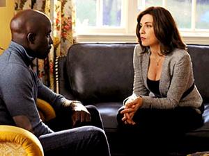 UNDER ARREST Alicia comes to Lemond Bishop's aid when the Feds question his legitimate businesses.